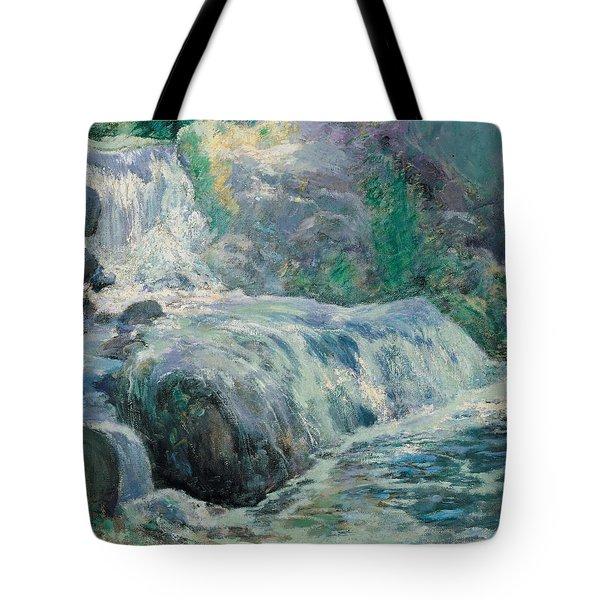 Waterfall Tote Bag by John Henry Twachman