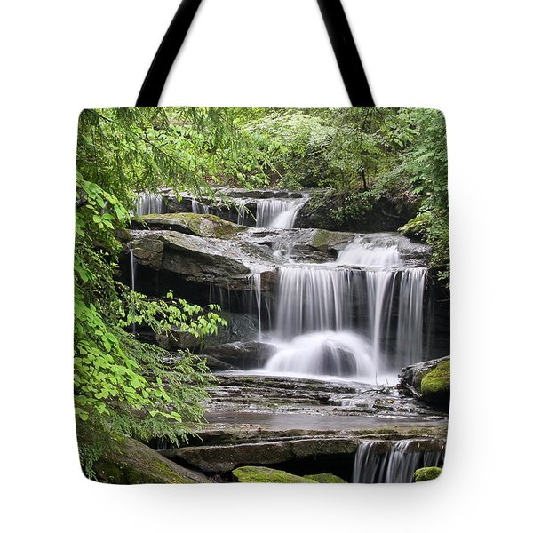 Waterfall Near Mabbitt Spring Tote Bag