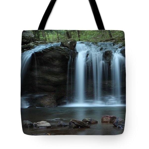 Waterfall On Flat Fork Tote Bag by Daniel Reed