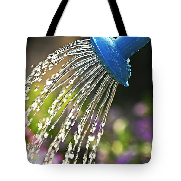 Watering Flowers Tote Bag