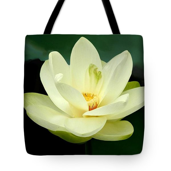 Tote Bag featuring the digital art Waterlily by John Pangia