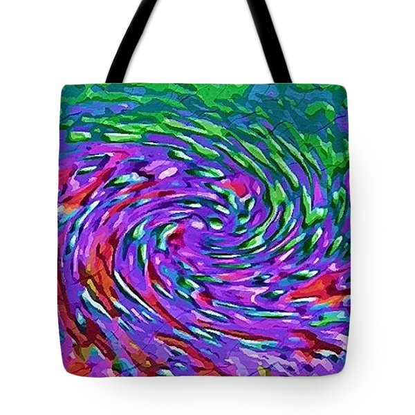 Tote Bag featuring the digital art Waterspout by Alec Drake
