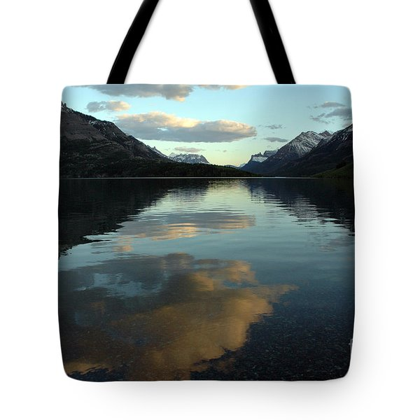 Tote Bag featuring the photograph Waterton Lake Sunset Canada by Vivian Christopher