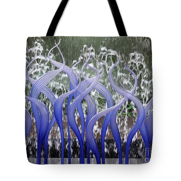 Waterwall Pirroette Tote Bag by Cheryl McClure