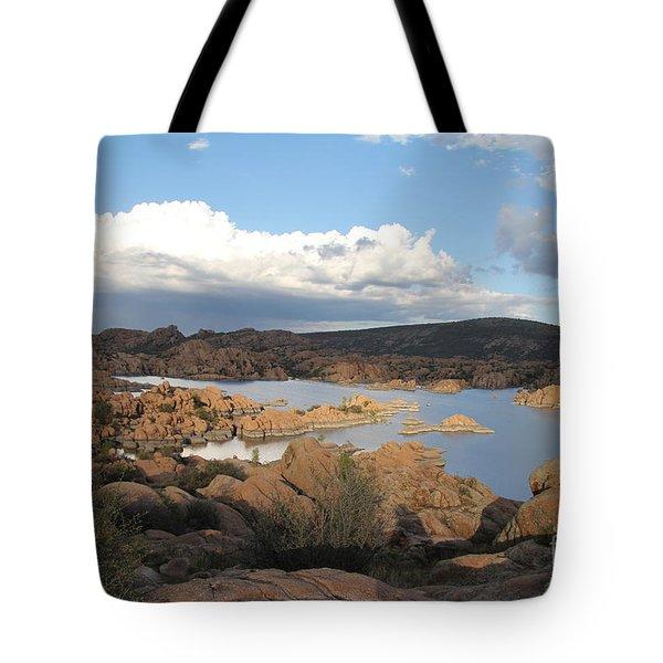 Watson Lake 2 Tote Bag by Diane Greco-Lesser