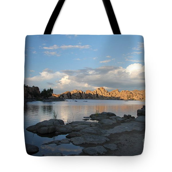 Watson Lake 5  Tote Bag by Diane Greco-Lesser