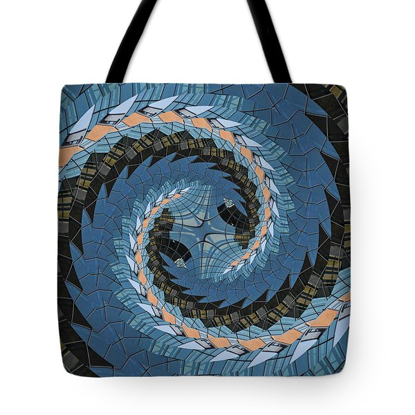 Wave Mosaic. Tote Bag by Clare Bambers