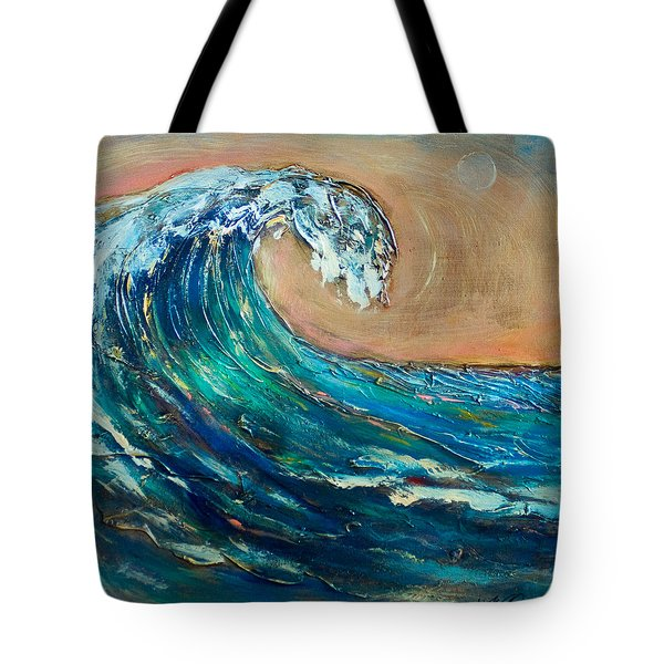 Tote Bag featuring the painting Wave To The South by Linda Olsen