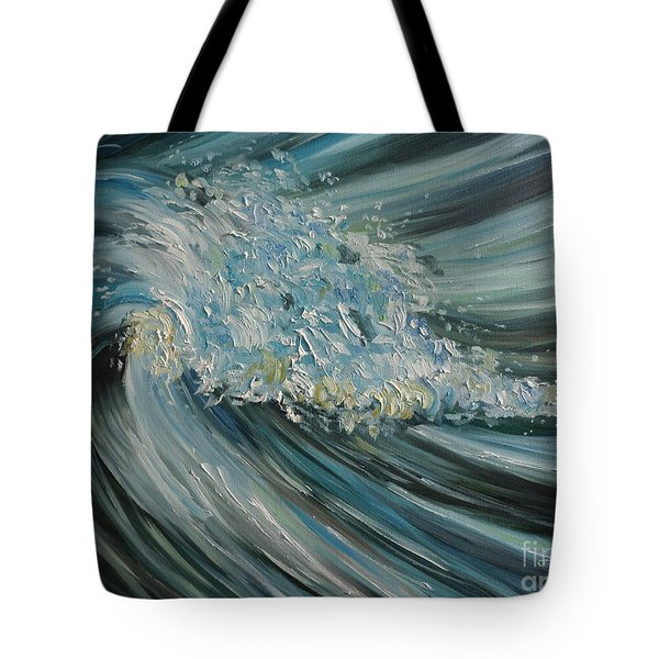 Tote Bag featuring the painting Wave Whirl by Julie Brugh Riffey