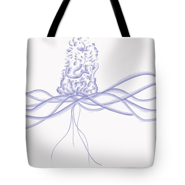 Waveflower Tote Bag