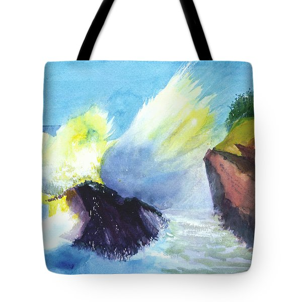 Waves 1 Tote Bag by Anil Nene