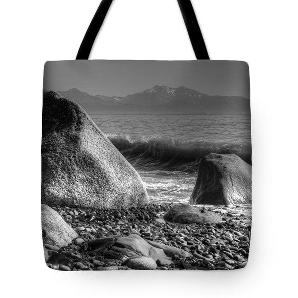 Waves At Diamond Beach Tote Bag by Michele Cornelius