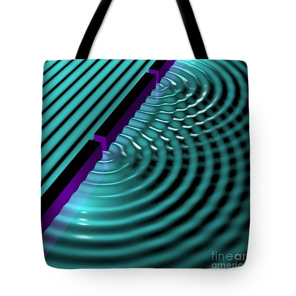 Waves Two Slit 3 Tote Bag