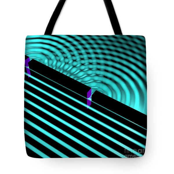 Waves Two Slit 4 Tote Bag