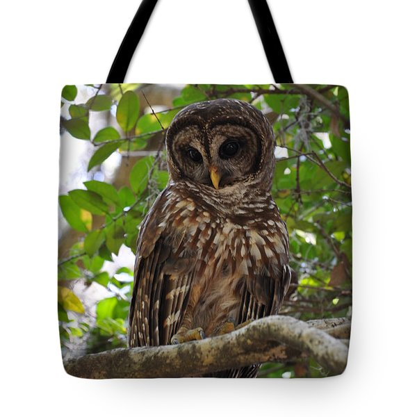 Tote Bag featuring the painting We Call Her Janice by AnnaJo Vahle