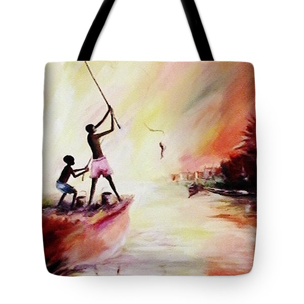 We Fished Tote Bag