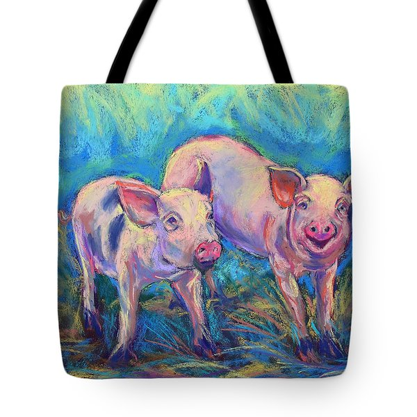 Tote Bag featuring the photograph We Won't Be Bacon by Li Newton