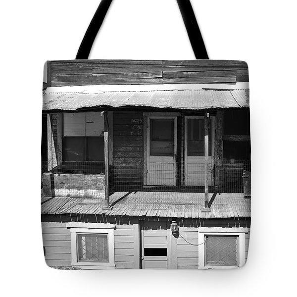 Weathered Home With Satellite Dish Tote Bag