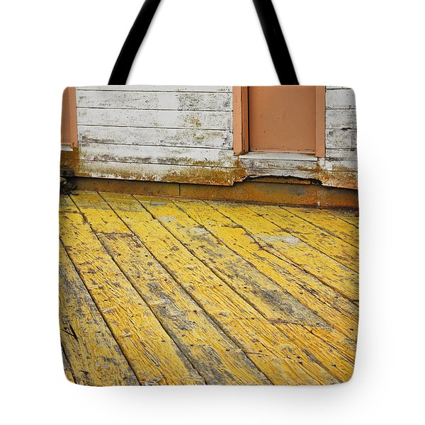 Weathered Monterey Building Tote Bag