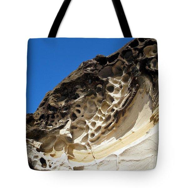 Weathered Sandstone Tote Bag by Kaye Menner