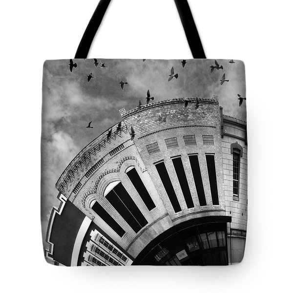 Wee Bryan Texas Detail In Black And White Tote Bag by Nikki Marie Smith