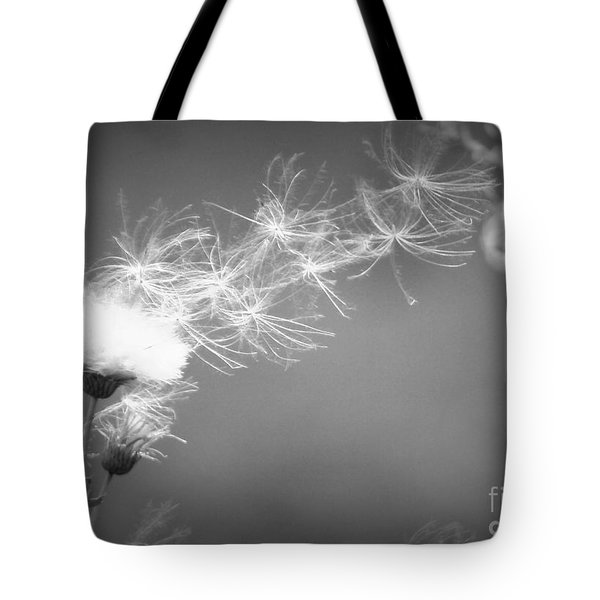 Tote Bag featuring the photograph Weed In The Wind by Deniece Platt