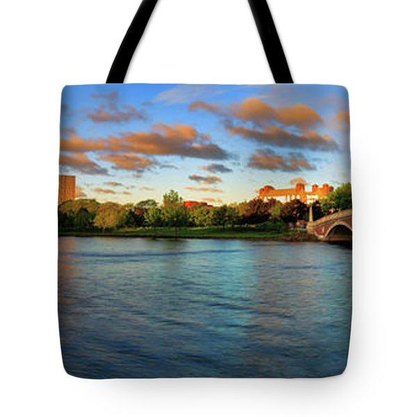 Weeks' Bridge Panorama Tote Bag by Rick Berk