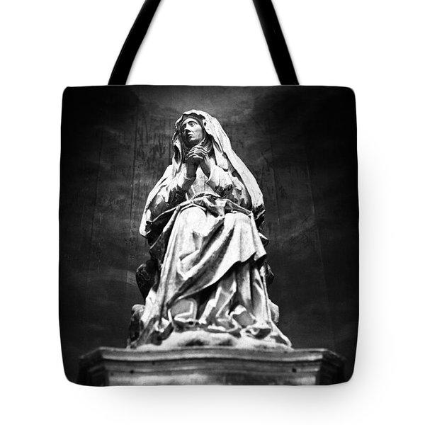 Weeping Madonna Tote Bag by Gaspar Avila