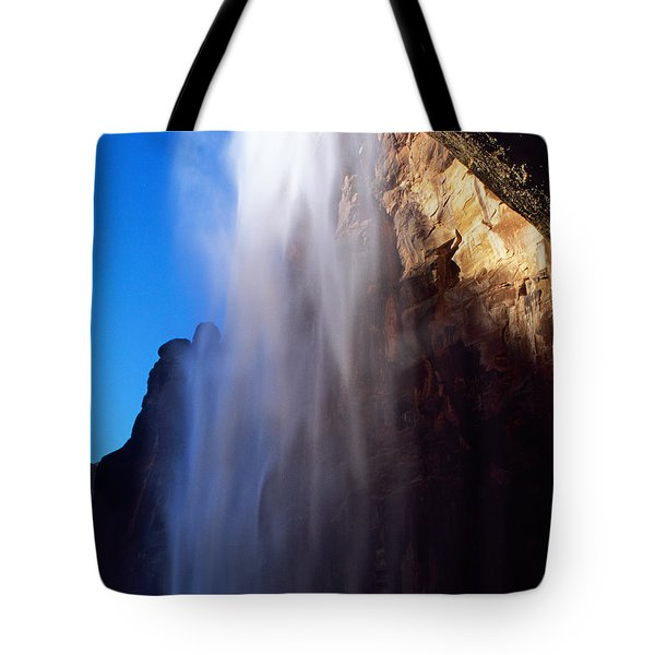 Weeping Rock Waterfall Tote Bag