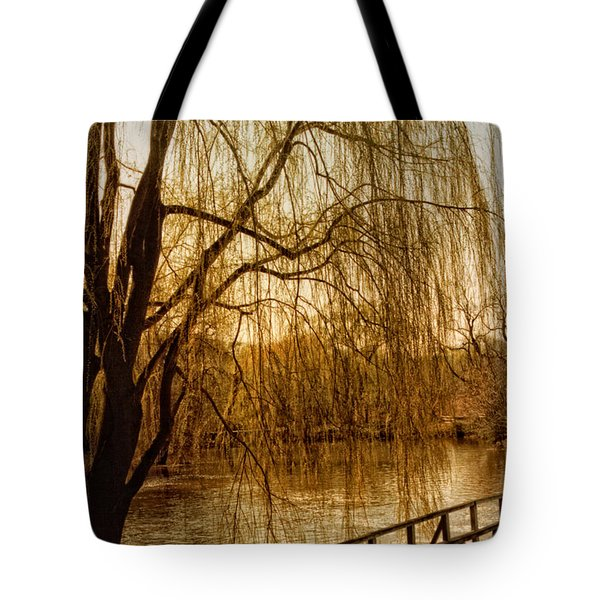 Weeping Willow And Bridge Tote Bag by Barbara Middleton