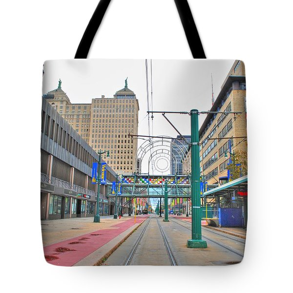 Tote Bag featuring the photograph Welcome To Dt Buffalo by Michael Frank Jr
