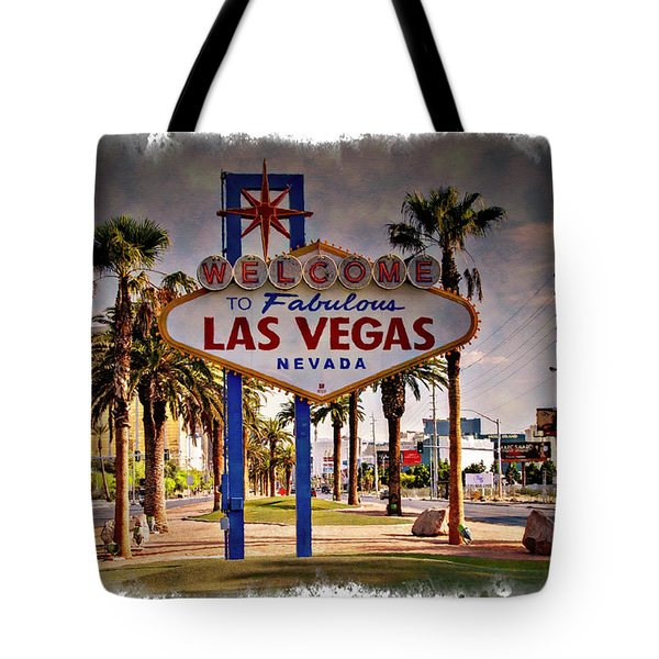 Welcome To Las Vegas Sign Series Impressions Tote Bag by Ricky Barnard