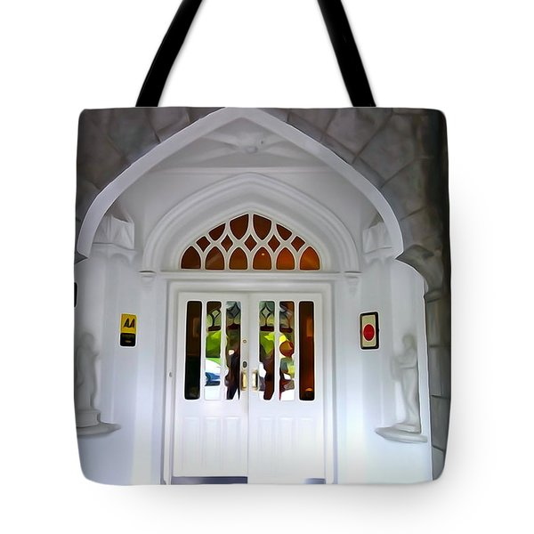 Tote Bag featuring the photograph Welcome To The Manor by Charlie and Norma Brock