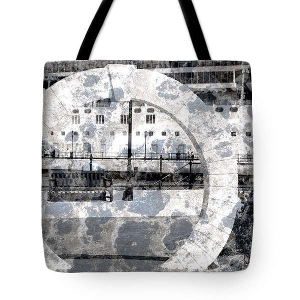 Welcome To The Moon Tote Bag by Luke Moore