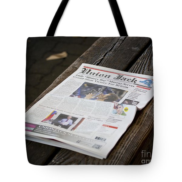 Well Done Andy Murray Tote Bag by Chris Dutton