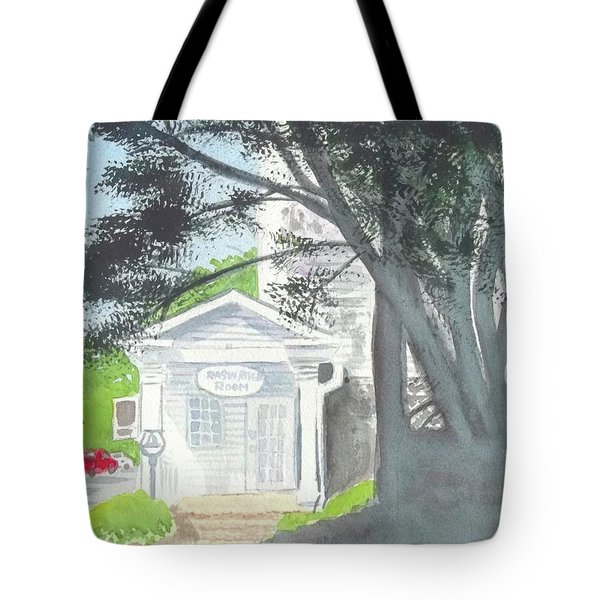 Tote Bag featuring the painting Wellers Carriage House 1 by Yoshiko Mishina