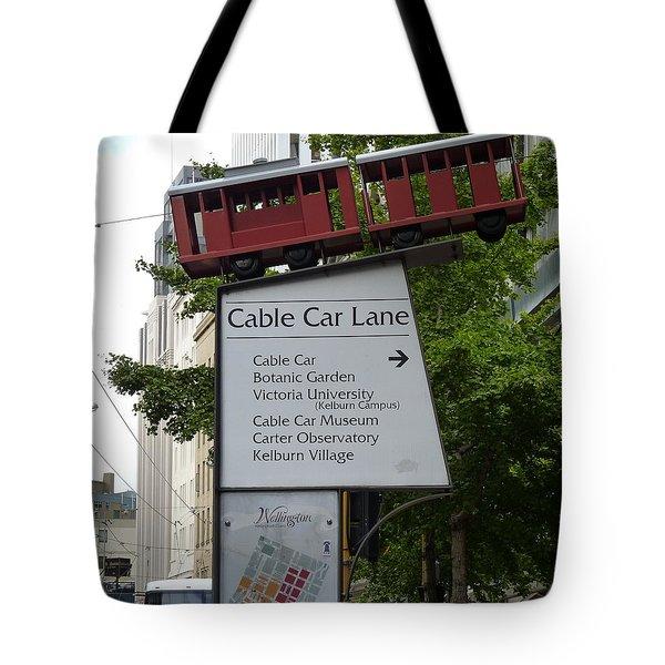 Wellington Cablecar Tote Bag by Carla Parris