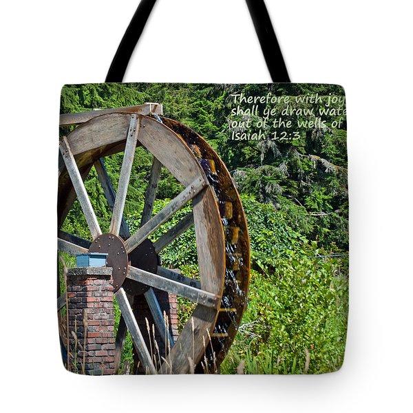 Wells Of Salvation Tote Bag