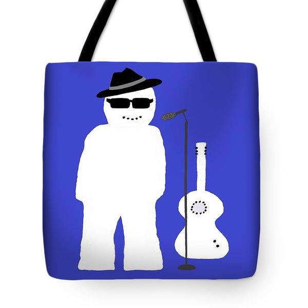 Welsh Snowman Musician Tote Bag by Barbara Moignard