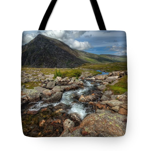 Welsh Valley Tote Bag by Adrian Evans