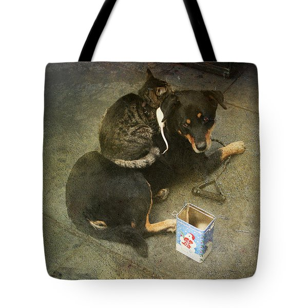 We're In This Together Tote Bag by Laurie Search
