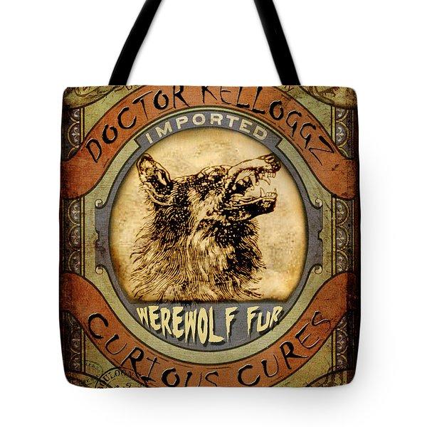 Tote Bag featuring the digital art Werewolf Fur  by Nada Meeks
