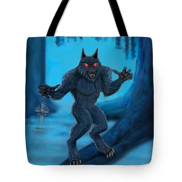 Werewolf Tote Bag by Glenn Holbrook
