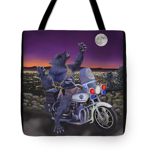 Werewolf Patrol Tote Bag by Glenn Holbrook