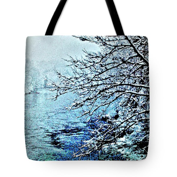 West River Snow Tote Bag