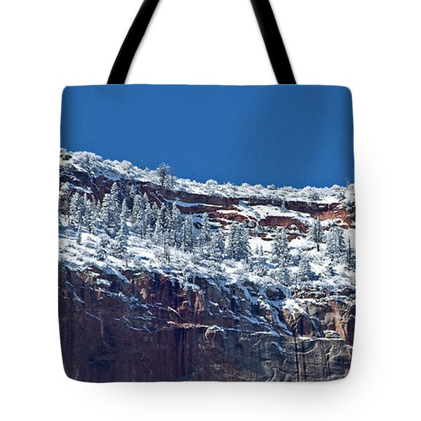 Tote Bag featuring the photograph West Temple Detail 2 by Bob and Nancy Kendrick