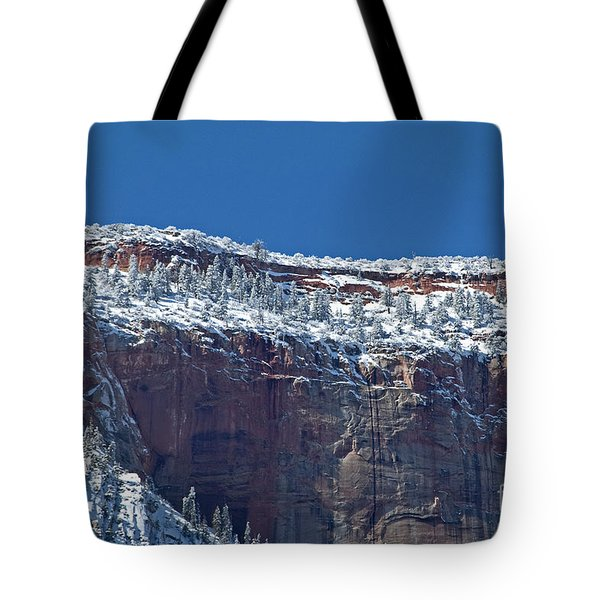 Tote Bag featuring the photograph West Temple Detail by Bob and Nancy Kendrick