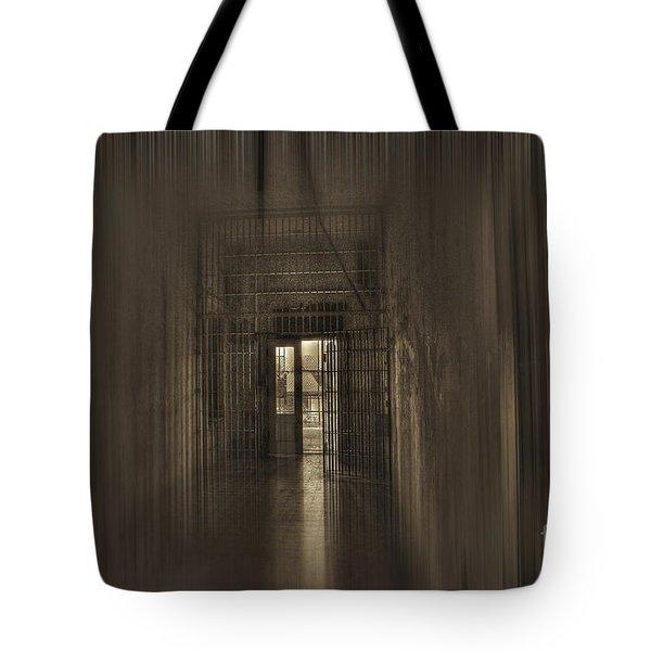 West Virginia Penitentiary Hallway Out Tote Bag by Dan Friend
