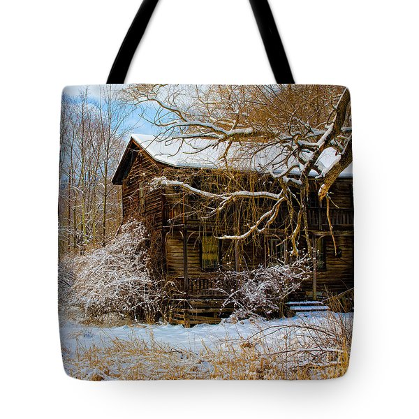 West Virginia Winter Tote Bag