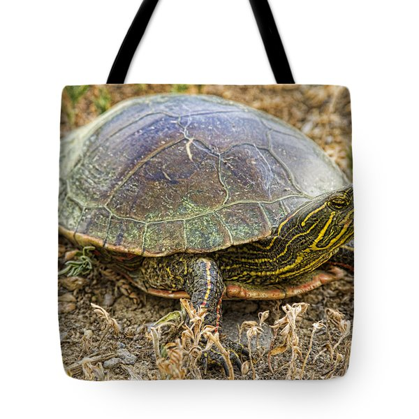 Western Painted Turtle Tote Bag